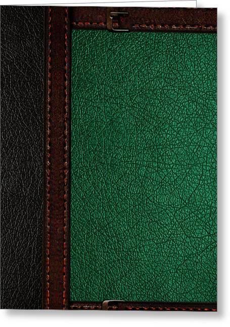 Leather Straps Greeting Cards - Book Cover Greeting Card by Kayleigh Semeniuk