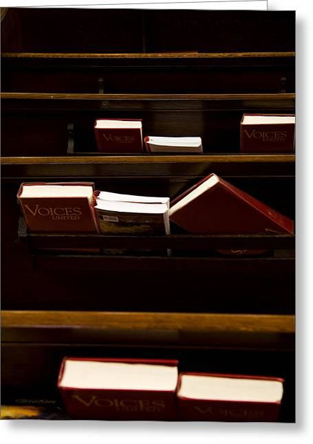 Book Of Worship II Greeting Card by Carol Hathaway