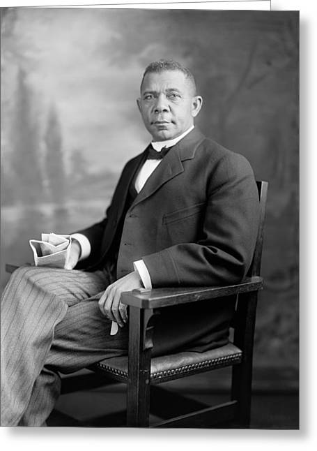 Tuskegee Greeting Cards - Booker T Washington Greeting Card by War Is Hell Store