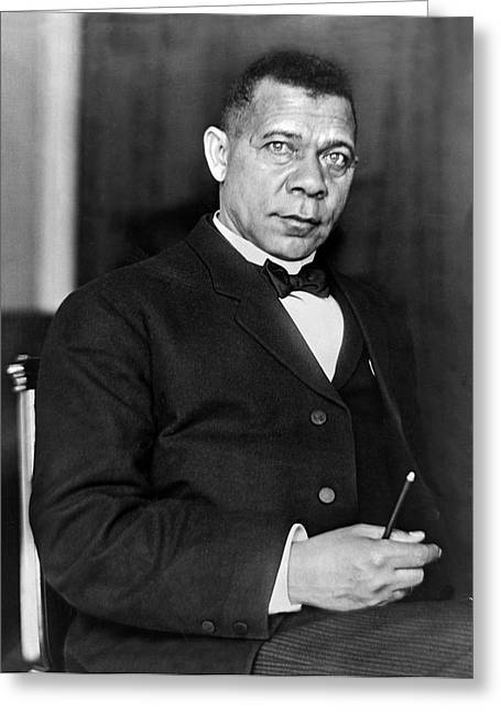 Orator Greeting Cards - Booker Taliaferro Washington Greeting Card by Waldon Fawcett
