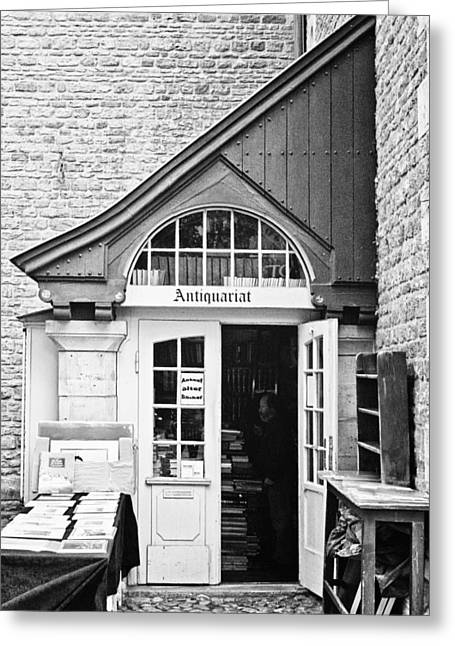 Recently Sold -  - Entrance Door Greeting Cards - Bookstore Greeting Card by Benjamin Matthijs