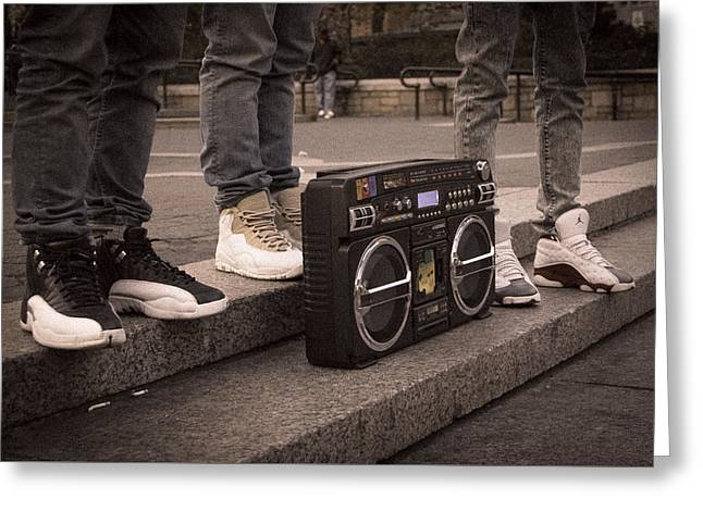 Boombox Greeting Card by Ritesh Manchanda