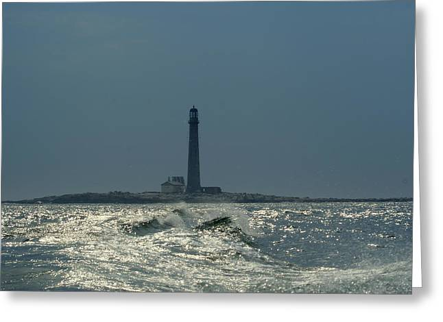 Boon Island Light Greeting Card by Lois Lepisto