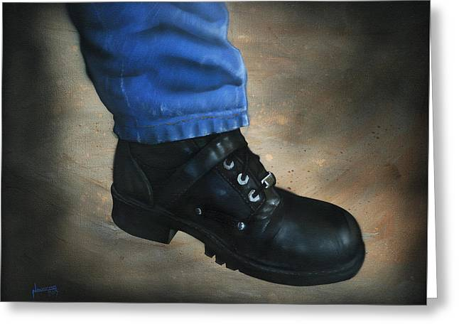 Boot Greeting Card by Luis  Navarro