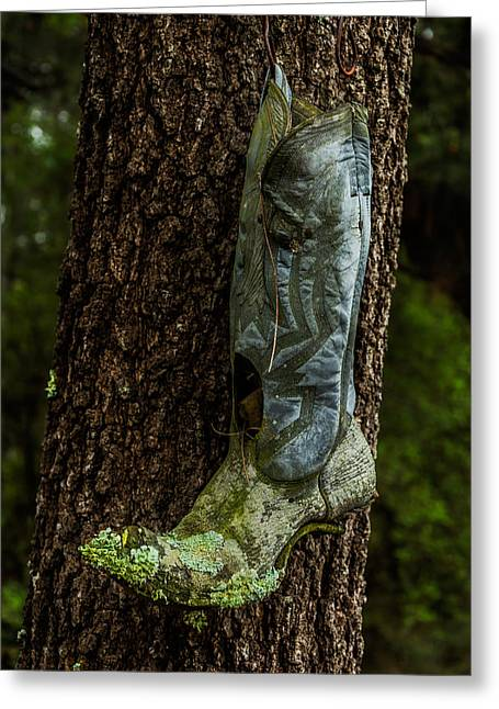 Boots Tapestries - Textiles Greeting Cards - Boot Nest Greeting Card by James Hennis