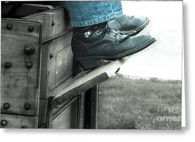 Boot Works Greeting Card by Steven  Digman