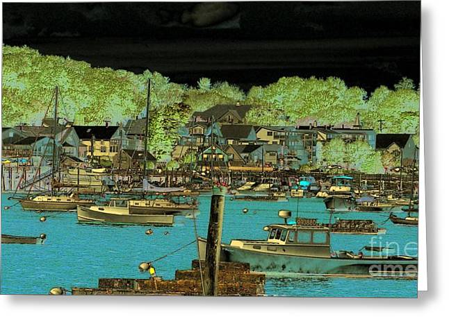 Maine Shore Greeting Cards - Booth Bay Harbor Maine Greeting Card by Marcia Lee Jones