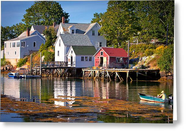 Chatham Greeting Cards - Booth bay  Maine Greeting Card by Emmanuel Panagiotakis