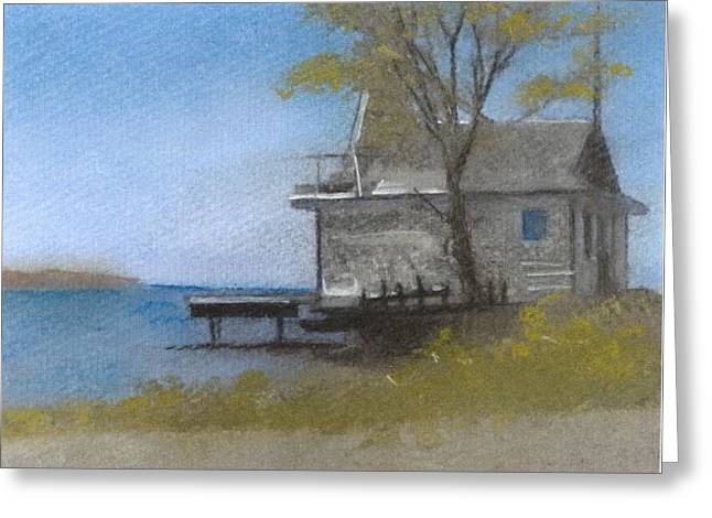 Maine Landscape Pastels Greeting Cards - Boothbay Morning Greeting Card by John Brisson