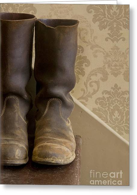 Work Boots Greeting Cards - Boots Greeting Card by Margie Hurwich