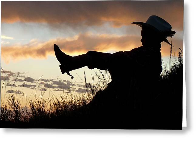 Boots On Greeting Card by Carla Froshaug