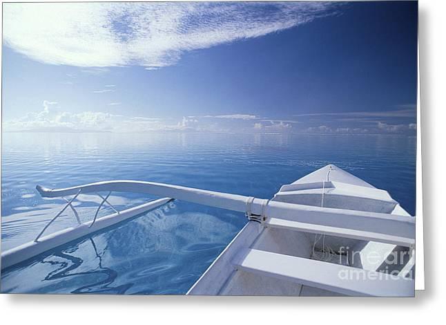 Bora Bora, Outrigger Greeting Card by Joe Carini - Printscapes