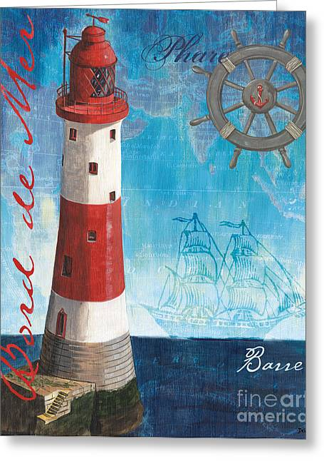Coastal Lighthouses Greeting Cards - Bord de Mer Greeting Card by Debbie DeWitt