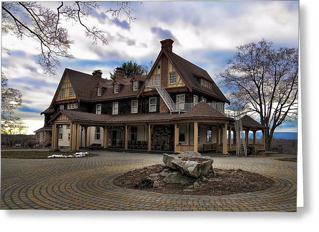 Residential Structure Greeting Cards - Borden Mansion Greeting Card by Ron Grafe