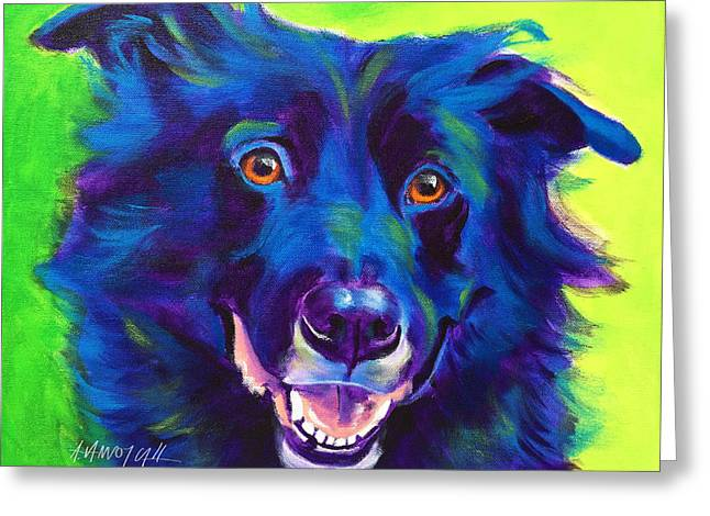 Border Collie - Viktor Greeting Card by Alicia VanNoy Call