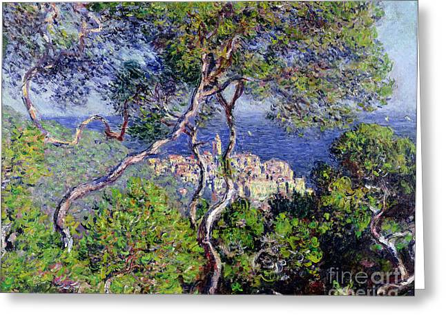 1884 Greeting Cards - Bordighera Greeting Card by Claude Monet