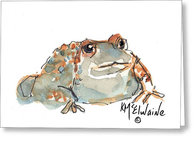 Kathleen Greeting Cards - Boreal Chorus Frog Greeting Card by Kathleen McElwaine