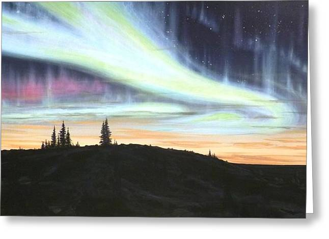 Scott Melby Greeting Cards - Borealis Greeting Card by Scott Melby