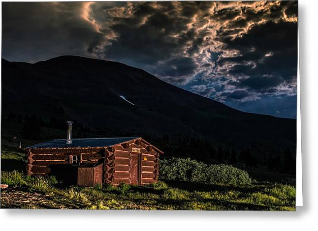 Boreas Pass Cabin Greeting Card by Michael J Bauer