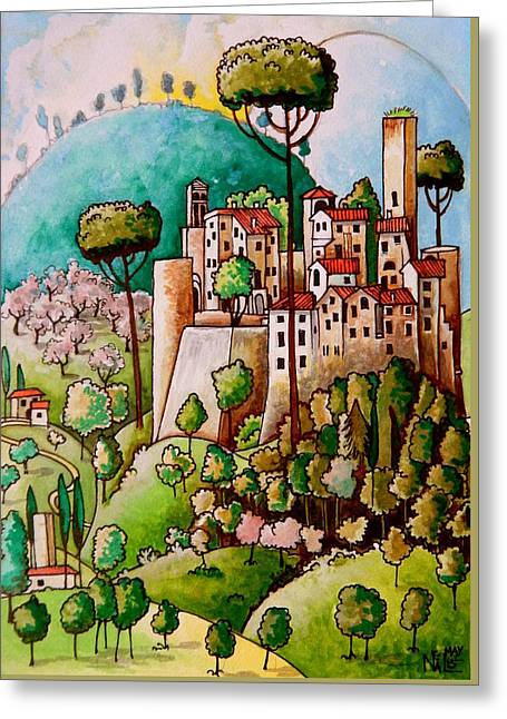 Landscape Posters Greeting Cards - Borgo Santa Guiliana Greeting Card by Neal Winfield