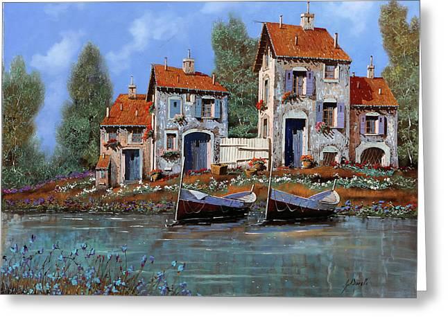 Borgo Viola Greeting Card by Guido Borelli