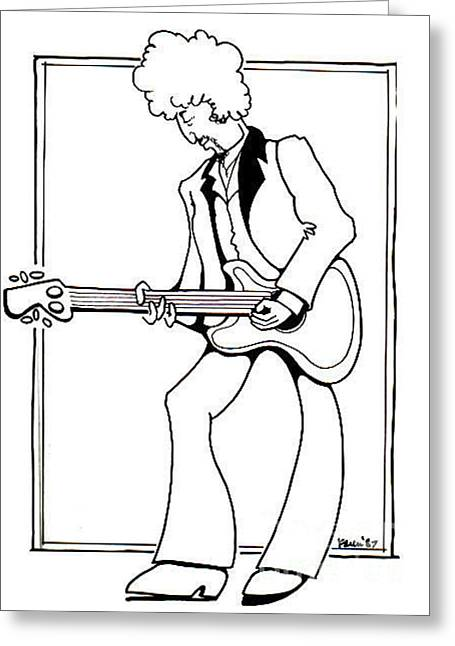 Born Again Drawings Greeting Cards - Born Again Bob Greeting Card by Karen Fulk