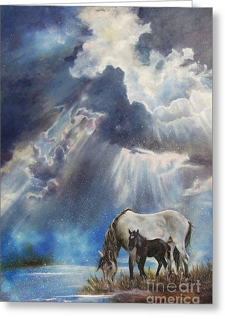Chatham Greeting Cards - Born At Daybreak Greeting Card by Karen Kennedy Chatham