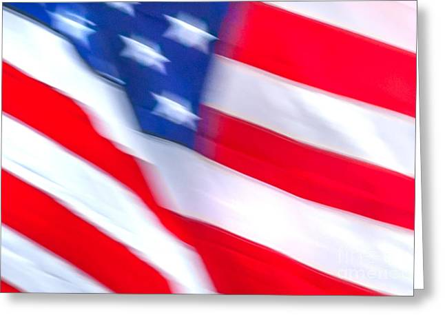 American Flag Photography Greeting Cards - Born In The USA Greeting Card by Az Jackson