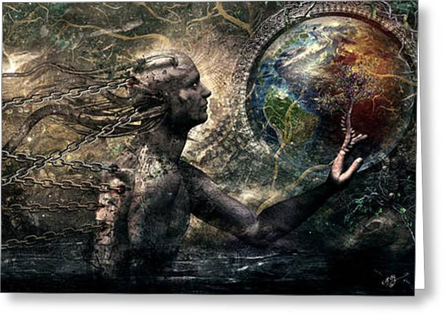 Earthly Greeting Cards - Born of Osiris Soul Sphere Greeting Card by Cameron Gray