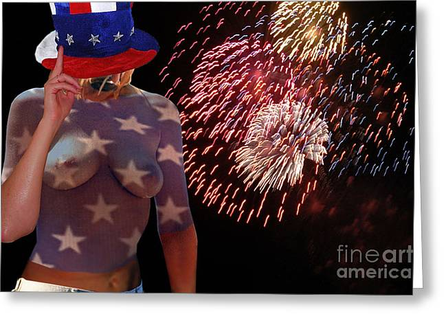 4th July Greeting Cards - Born on the 4th of July III Greeting Card by Broken  Soldier