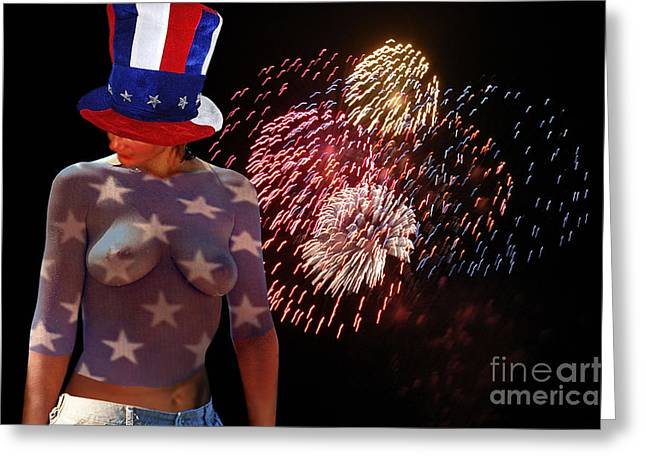 4th July Digital Greeting Cards - Born On The Fourth Of July II Greeting Card by Broken  Soldier
