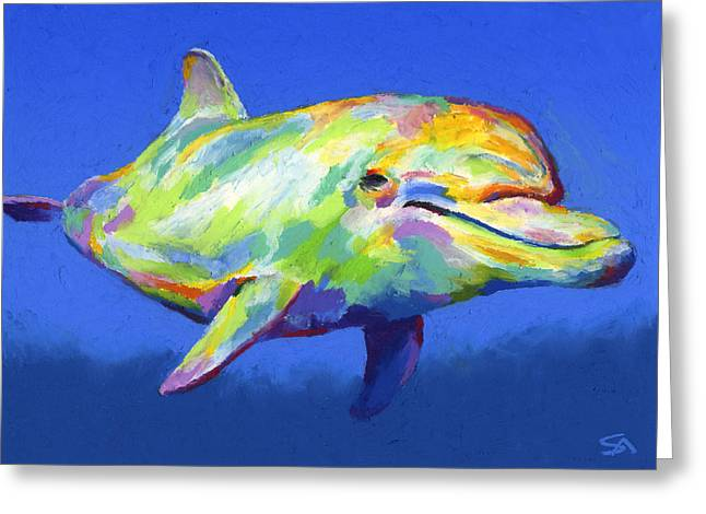 Whale Pastels Greeting Cards - Born To Live Wild Greeting Card by Stephen Anderson