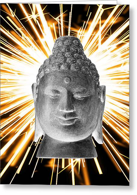 Handmade Sculptures Greeting Cards - Borobudur Enlightenment  Greeting Card by Terrell Kaucher