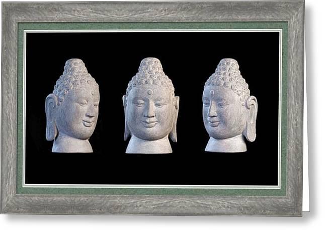 Buddhism Sculptures Greeting Cards - Borobudur Greeting Card 1 Greeting Card by Terrell Kaucher