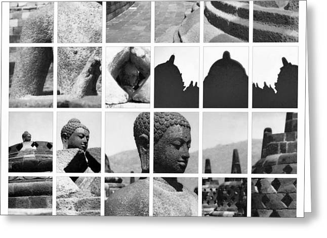 Borobudur in frame Greeting Card by Mario Bennet