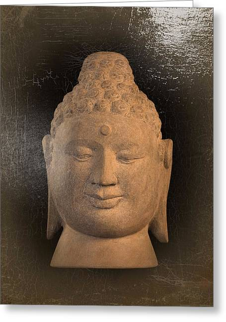 Buddha Sculptures Greeting Cards - Buddha - oil painting  Greeting Card by Terrell Kaucher