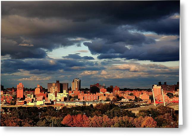 Flushing Greeting Cards - Borough of Queens New York City Greeting Card by Frank Romeo