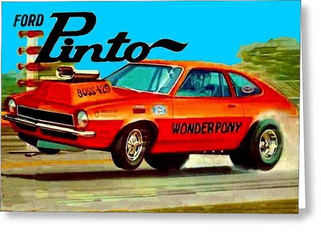 Boss Ford Pinto Wonder Pony Greeting Card by Paul Van Scott