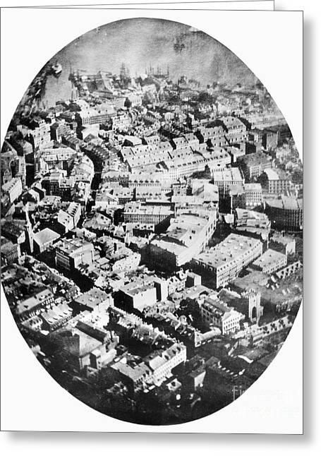 Samuel Greeting Cards - Boston 1860 Greeting Card by Granger