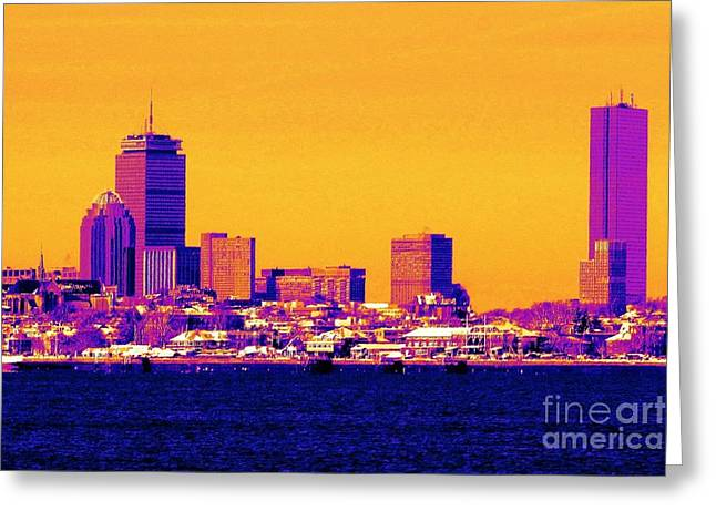 Oceanview Greeting Cards - Boston a la Coleur Greeting Card by Lori Pessin Lafargue