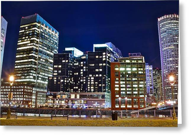 Boston Across The River Greeting Card by Frozen in Time Fine Art Photography