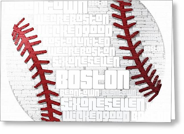Boston Baseball Greeting Card by Brandi Fitzgerald