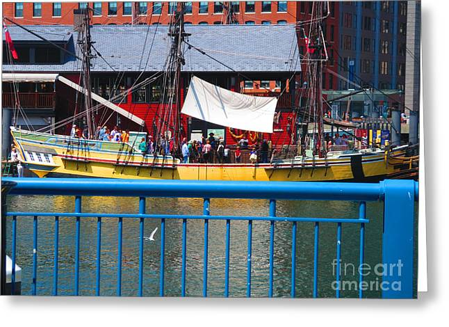 Festivities Greeting Cards - Boston Beautiful Picture Perfect at every glance Boats Shops Lake  NavinJoshi FineArtAmerica Pixels Greeting Card by Navin Joshi