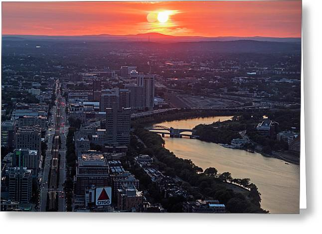 Boston Binary Sun System Boston Ma Greeting Card by Toby McGuire