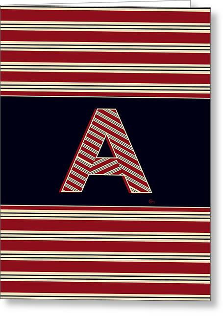 Bosox Greeting Cards - 1920s BOSTON BROOKLINER MONOGRAM initial  A Greeting Card by Cecely Bloom