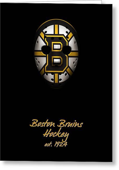 Boston Bruins Established Greeting Card by Joe Hamilton