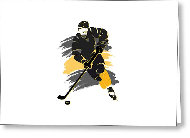 Boston Iphone Cases Greeting Cards - Boston Bruins Player Shirt Greeting Card by Joe Hamilton