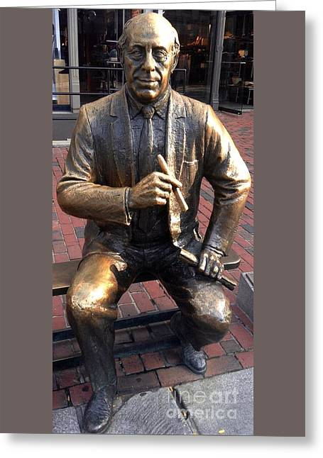 Record Breaker Greeting Cards - Boston Celtics Legend Red Auerbach Greeting Card by Gina Sullivan