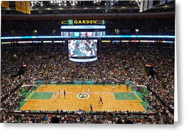 Chicago Bulls Greeting Cards - Boston Celtics Greeting Card by Juergen Roth