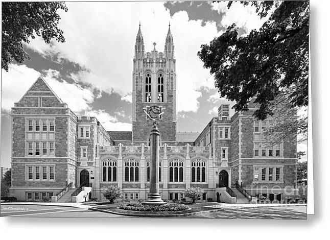 Boston College Gasson Hall Greeting Card by University Icons